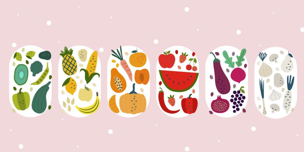 กินผัก-ผลไม้ ,ผลไม้หลากสี,ผัก,ผลไม้